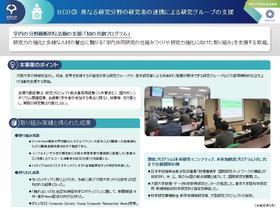 異なる研究分野の研究者の連携による研究グループの支援[11]